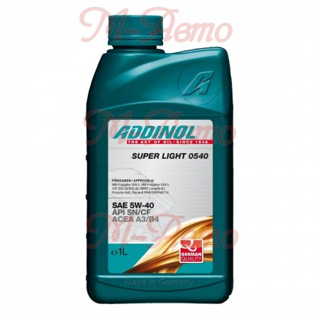 ADDINOL SUPER LIGHT SN/CF 5W40 1л син.