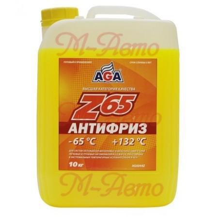 HI-GEAR/AGA 044 Z65 Антифриз 10кг -65С желтый