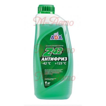 HI-GEAR/AGA 048 Z42 Антифриз 1кг -42С зеленый