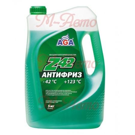 HI-GEAR/AGA 049 Z42 Антифриз 5кг -42С зеленый