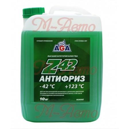 HI-GEAR/AGA 050 Z42 Антифриз 10кг -42С зеленый