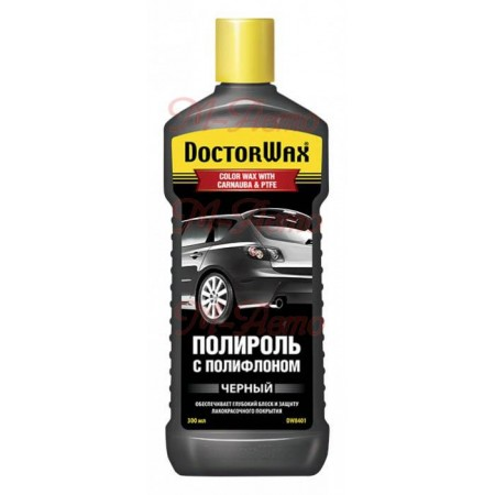 8401DW Полироль кузова DOCTOR WAX Черная тефлон 300мл