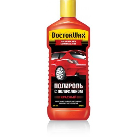 8417DW Полироль кузова DOCTOR WAX Красная тефлон - 300мл