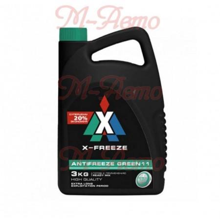 FELIX Антифриз X-FREEZE GREEN (зеленый) 3кг
