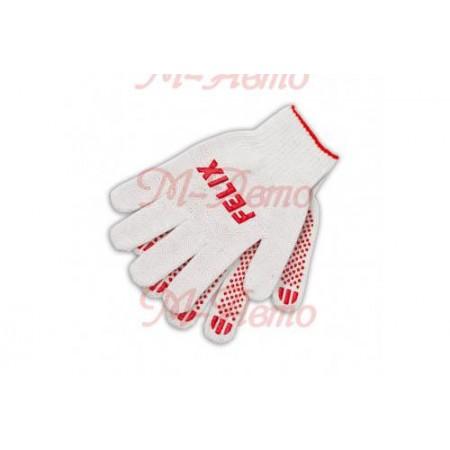 FELIX Перчатки хлопковые c пвх-покрытием