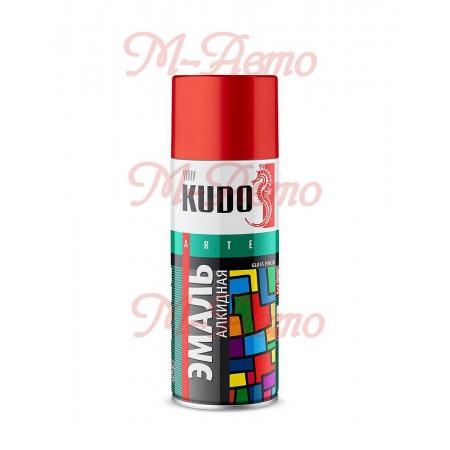 KUDO КU-1004 Эмаль универсальная  вишневая 520мл