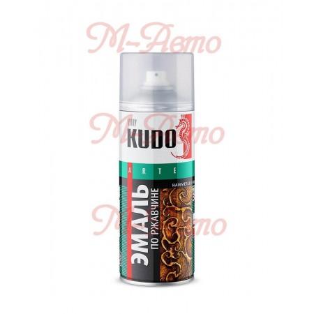 KUDO KU-3005 Эмаль молотковая по ржавчине серебристо-серо-коричневая 520мл