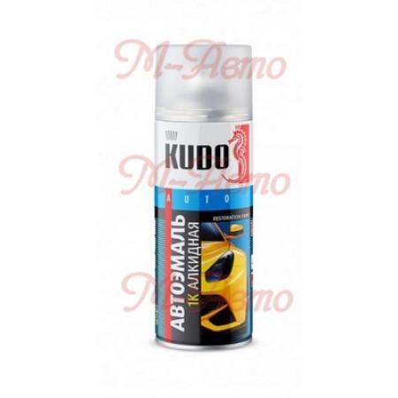 """KUDO KU-4004 Эмаль универсальная """"вишня 127"""" аэрозоль 230г."""