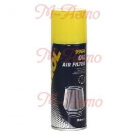 MANNOL 9964 Пропитка воздушных фильтров масляная Luftfilteroi /  Air Filter Oil (200мл.)