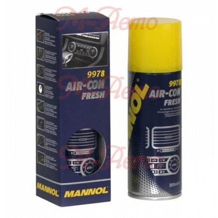 """MANNOL 9978 Очиститель системы кондиционирования """"Air- Con Flesh""""  200мл."""