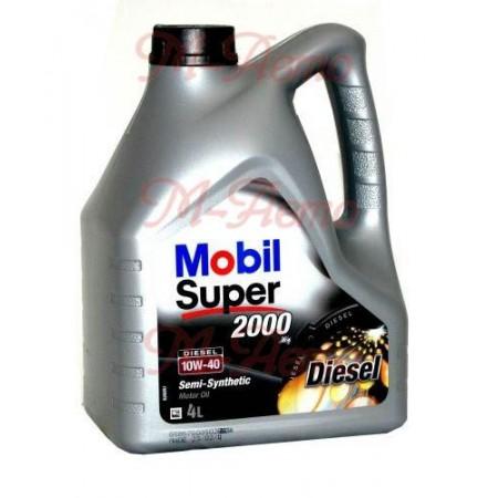 MOBIL SUPER 2000 DIESEL 10W40 4л п/синт